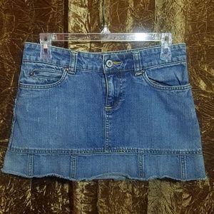Old Navy Ultra Mini Denim Jean Skirt Size 1 BOHO